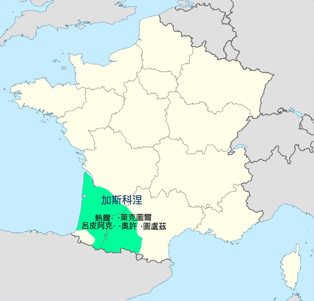 加斯科涅_地圖